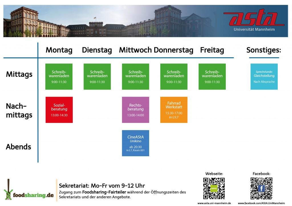 Timetable AStA Aktionen