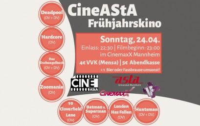 CineAStA Frühjahrskino 2016