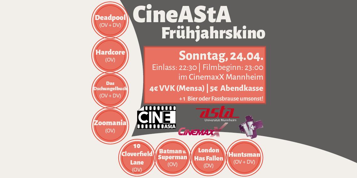 CineAStA Spring Cinema 2016
