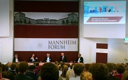 Mannheim Forum: Streitpunkt Steuern, Streitpunkt Lucke