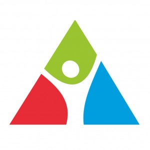 Das Logo der Initiative symbolisiert das Dreieck der Nachhaltigkeit: Ökologie, Umwelt & Soziales.