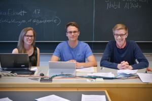 Franziska Eckardt (gahg), Lukas Bischof (Jusos) und Jens Angele (RCDS)