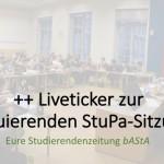 +++ Live Ticker: Das StuPa konstituiert sich neu +++