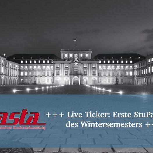 +++ Live Ticker: Erste StuPa-Sitzung des Wintersemesters +++